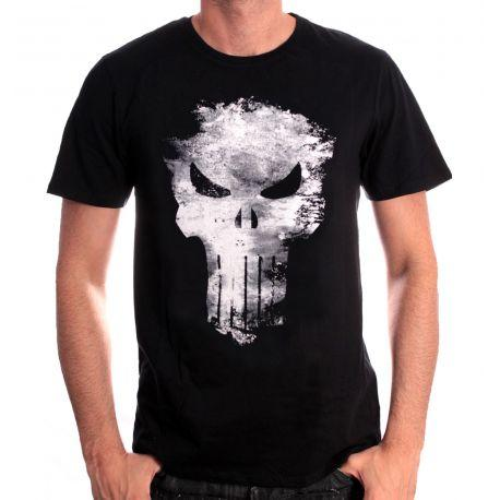 Tshirt Punisher Marvel - The Punisher Distress Skull - Boutique Top Tendance
