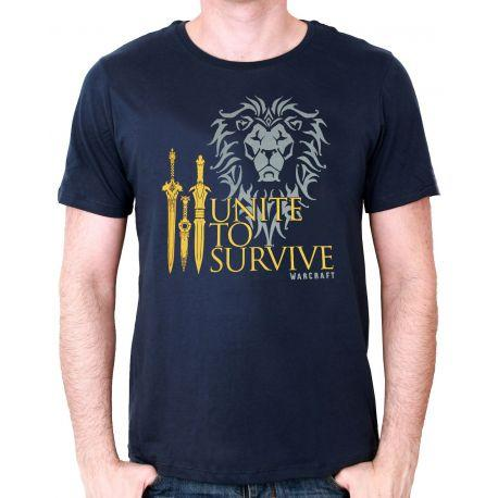 Tshirt  Warcraft - Unite to survive - Boutique Top Tendance