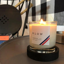 Load image into Gallery viewer, Firewood Scented Candle with Wooden Base