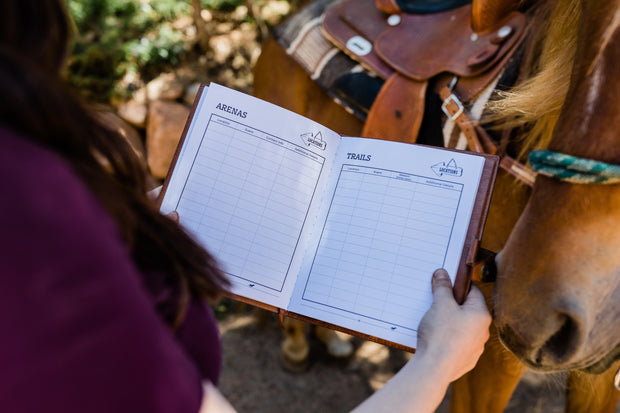 Personalized Horse Journal - The Complete Horse Lovers Leather Journal to Track Everything About Your Horse - Starkenburg Company