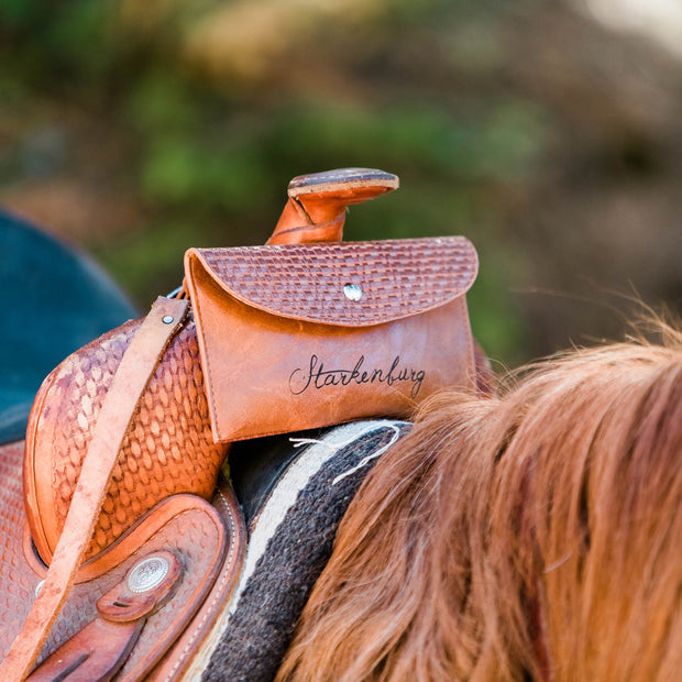 Personalized Horse Saddle Bag - Cell Phone Holder - Magnetic Easy-Access - Starkenburg Company