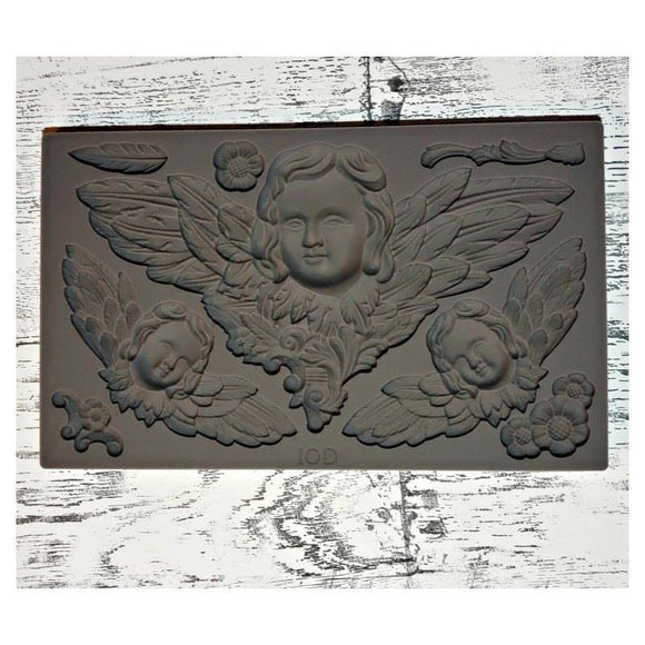 'Classical Cherubs' IOD Decor Mould (6″X10″)