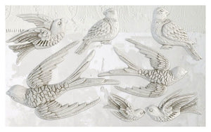 'Birdsong' IOD Decor Mould (6″X10″)