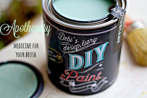 All natural clay paint with 5 times the pigment of other brands. Apothecary is thick like a chalk type paint with great coverage