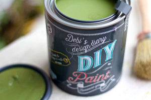 All natural clay paint with 5 times the pigment of other brands. Gypsy Green is thick like a chalk type paint with great coverage