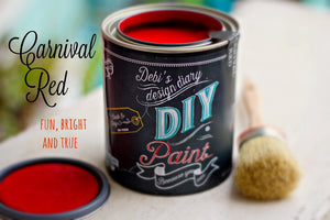 All natural clay paint with 5 times the pigment of other brands. Carnival Redis thick like a chalk type paint with great coverage