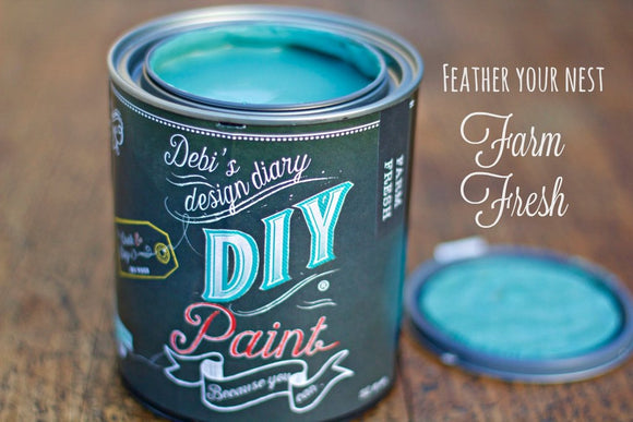 All natural clay paint with 5 times the pigment of other brands. Farm Fresh is thick like a chalk type paint with great coverage