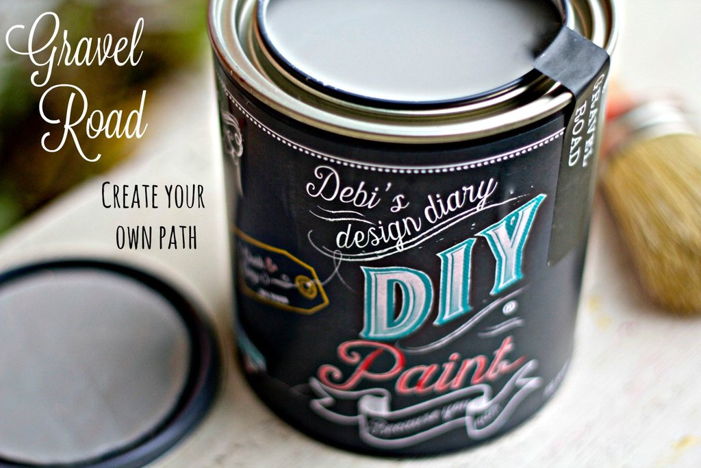 All natural clay paint with 5 times the pigment of other brands. Gravel Road  is thick like a chalk type paint with great coverage