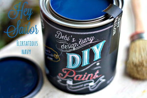 All natural clay paint with 5 times the pigment of other brands. Hey Sailor is thick like a chalk type paint with great coverage