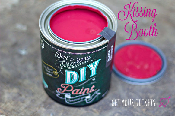 All natural clay paint with 5 times the pigment of other brands. Kissing Booth is thick like a chalk type paint with great coverage