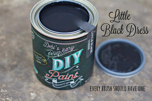 All natural clay paint with 5 times the pigment of other brands Little Black Dress  is thick like a chalk type paint with great coverage