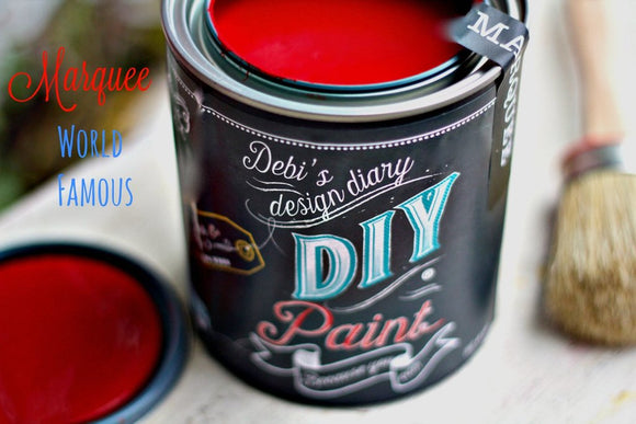 All natural clay paint with 5 times the pigment of other brands.Marque is thick like a chalk type paint with great coverage