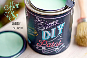 All natural clay paint with 5 times the pigment of other brands Mint Chip is thick like a chalk type paint with great coverage