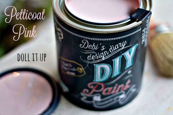 All natural clay paint with 5 times the pigment of other brands. Petticoat Pink is thick like a chalk type paint with great coverage