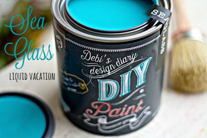 All natural clay paint with 5 times the pigment of other brands. Sea Glass is thick like a chalk type paint with great coverage