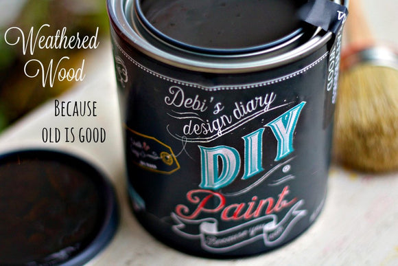 All natural clay paint with 5 times the pigment of other brands. Weathered Wood is thick like a chalk type paint with great coverage