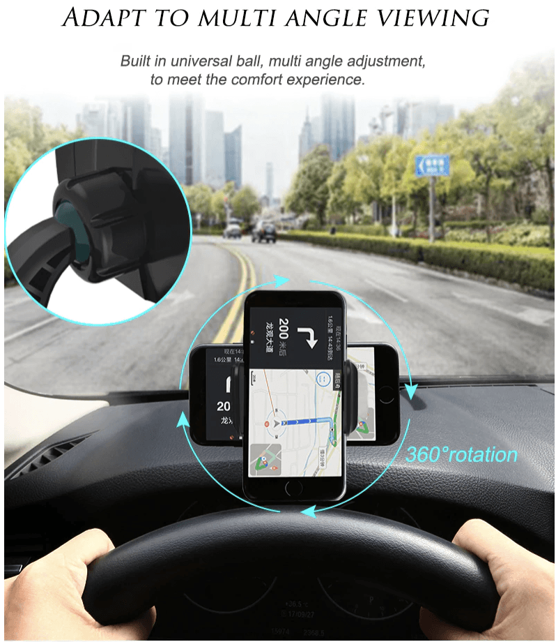 360° Dashboard Car Phone Mount