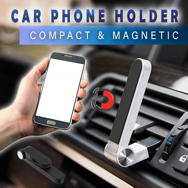 Compact Magnetic Car Phone Holder