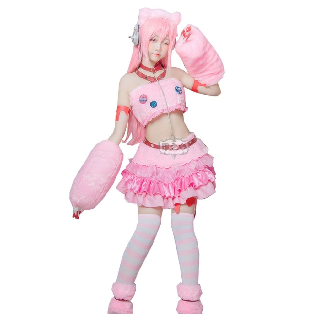 Super Sonico Gloomy Bear Cosplay