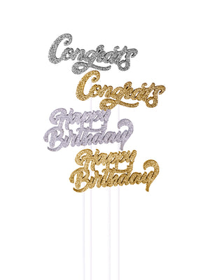 Glitter Celebration Messages Pick Kit