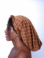FULL SATIN PRINTED BONNETS
