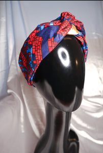 AFRICAN KNOT PRINT TURBANS