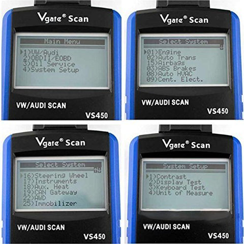 Vs450 Obdii Eobd Auto Scanner Diagnostic Tool Code Reader For Can Vw/Audi