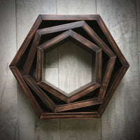 Wood Hexagon Honeycomb Shelves - set of 3. Free Shipping!