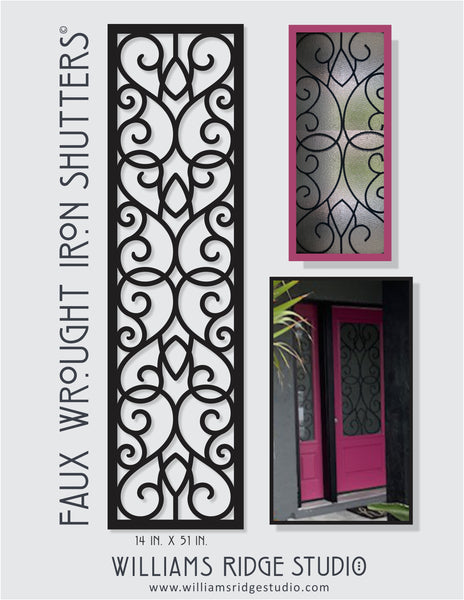 Faux Wrought Iron Shutters - Custom Order for Elizabeth C.