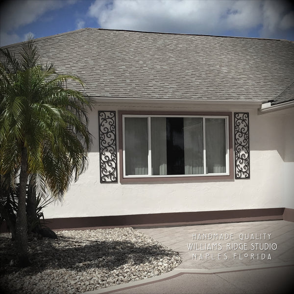 Faux Wrought Iron Shutters - Our Original Scroll Design ...