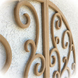 Faux Wrought Iron Shutters - Our Original Scroll Design - Prices are for a PAIR/SET (2) 14 inches wide.