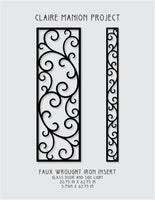 CUSTOM ORDER  for Claire M. - Insert for door and sidelight