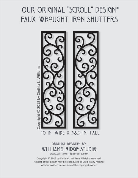 Custom Order for Susan W. Faux Iron Shutters