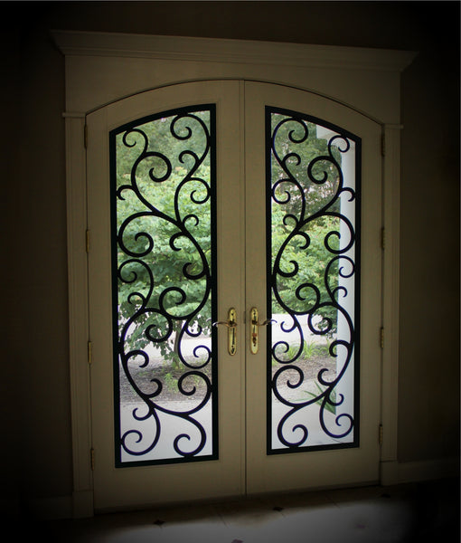 Insert for door, Faux Wrought Iron - custom order only.