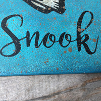 "WALL DECOR ""Hooked on Snook"" original design hand painted."