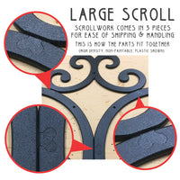 Faux Wrought Iron Wall Decor - indoor/outdoor