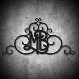 Faux Wrought Iron Wall Decor for gable - our original design©!