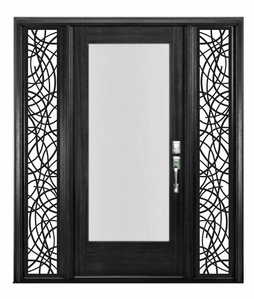 Faux Wrought Iron SIDELIGHT inserts - Modern Contemporary Style