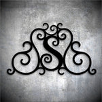 Custom Faux Wrought Iron Scrollwork - Monogram. Shipping included.