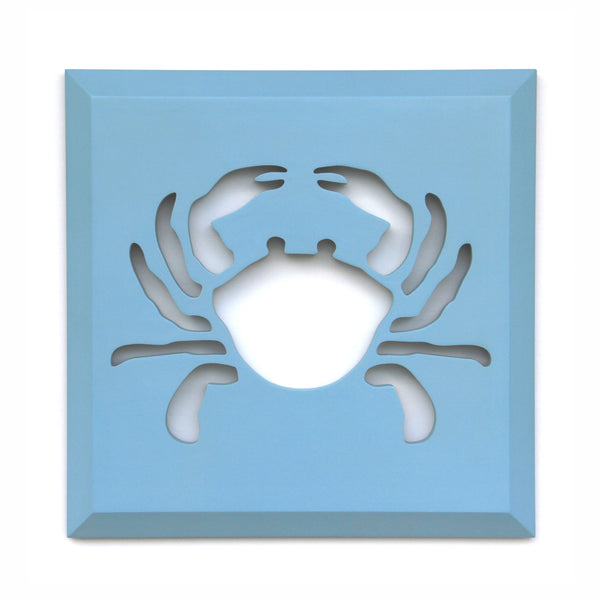 "WALL DECOR, BLUE CRAB - 14"" x 14"" x 3/4"""