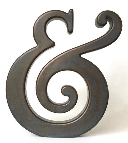 Shelf or Table Art - beautiful ampersand (bronze finish) FREE SHIPPING!