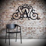 "Custom Faux Wrought Iron Scrollwork - letter ""A"". Shipping included."