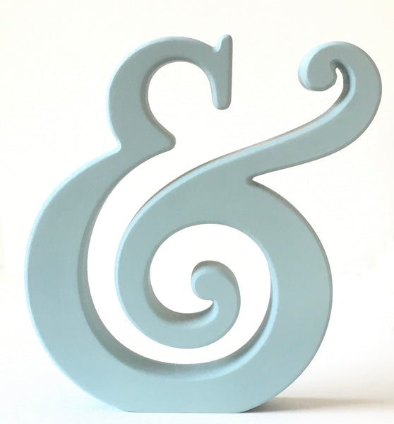 Table or Shelf Art - beautiful Ampersand. FREE SHIPPING!
