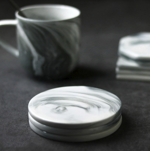 White Marble Coasters - HomelyHome [Free Shipping]