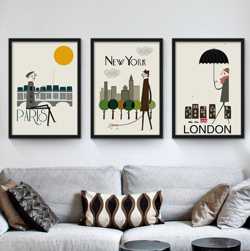 World Cities Canvas Wall Art