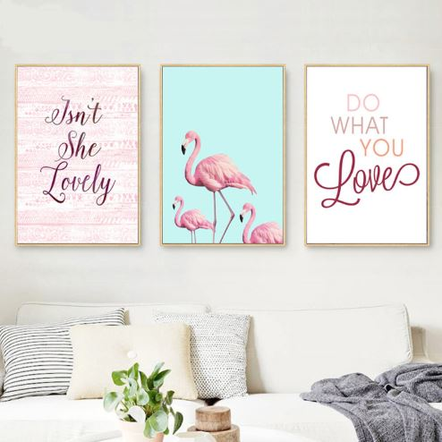 Pink Pelican Canvas Wall Art