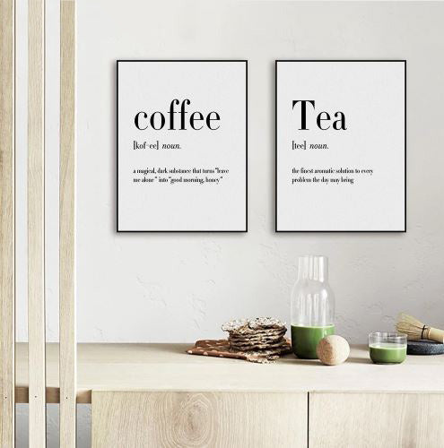Coffee, Tea etc. Quotes Canvas Wall Ar