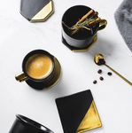 Black & Gold Marble Coasters - HomelyHome [Free Shipping]