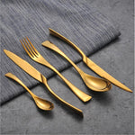 Metallic Gold Cutlery Set