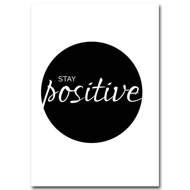 Stay Positive Canvas Wall Art